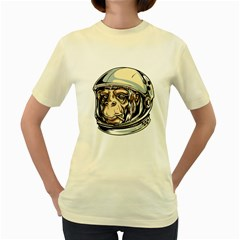 SpaceMonkey  Womens  T-shirt (Yellow) by Contest1814230