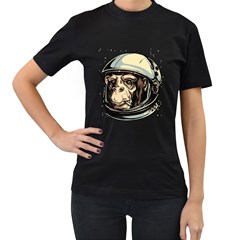 Spacemonkey Womens' Two Sided T Shirt (black) by Contest1814230