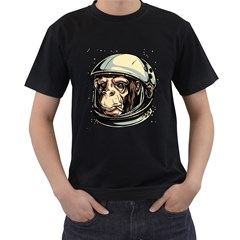 SpaceMonkey Mens' T-shirt (Black) by Contest1814230