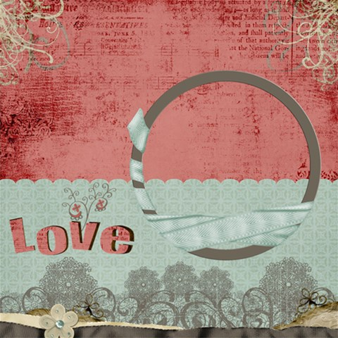 In Love Page By Cherish Collages   Scrapbook Page 12  X 12    N6ecqrw8tmhr   Www Artscow Com 12 x12 Scrapbook Page - 1