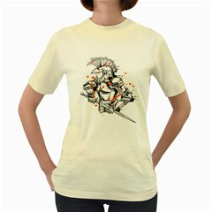 Captain !  Womens  T Shirt (yellow) by Contest1840973