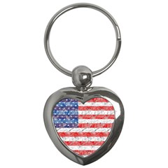 Flag Key Chain (heart)