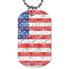 Flag Dog Tag (two Sided)  by uniquedesignsbycassie