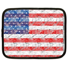 Flag Netbook Sleeve (xxl) by uniquedesignsbycassie