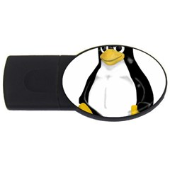Angry Linux Tux Penguin 4gb Usb Flash Drive (oval)