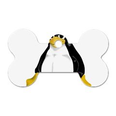 Angry Linux Tux Penguin Dog Tag Bone (two Sided) by youshidesign