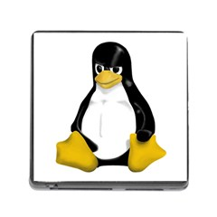 Angry Linux Tux Penguin Memory Card Reader With Storage (square) by youshidesign