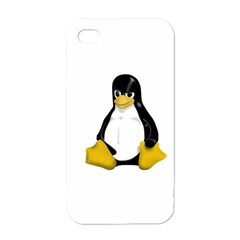 Angry Linux Tux Penguin Apple Iphone 4 Case (white)