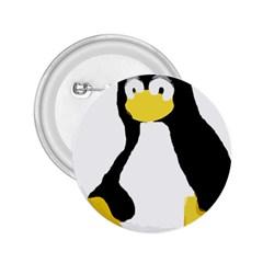 Primitive Linux Tux Penguin 2 25  Button by youshidesign
