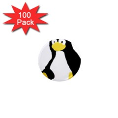 Primitive Linux Tux Penguin 1  Mini Button Magnet (100 Pack) by youshidesign