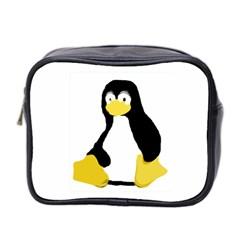 Primitive Linux Tux Penguin Mini Travel Toiletry Bag (two Sides) by youshidesign