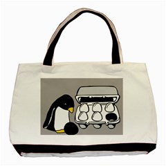 Egg Box Linux Twin Sided Black Tote Bag by youshidesign