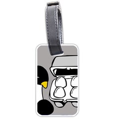 Egg Box Linux Luggage Tag (one Side)