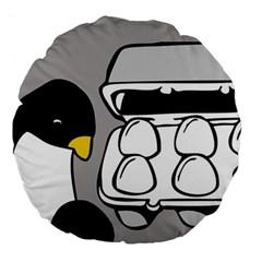 Egg Box Linux 18  Premium Round Cushion  by youshidesign