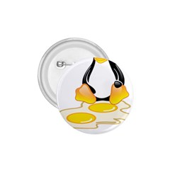 Linux Tux Penguin Birth 1 75  Button by youshidesign