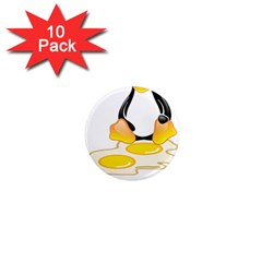 Linux Tux Penguin Birth 1  Mini Button Magnet (10 Pack) by youshidesign