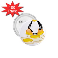 Linux Tux Penguin Birth 1 75  Button (100 Pack)
