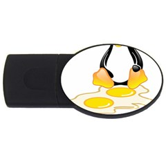 Linux Tux Penguin Birth 4gb Usb Flash Drive (oval) by youshidesign