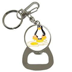 Linux Tux Penguin Birth Bottle Opener Key Chain by youshidesign