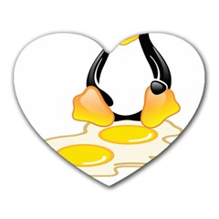 Linux Tux Penguin Birth Mouse Pad (heart) by youshidesign