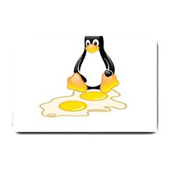 Linux Tux Penguin Birth Small Door Mat by youshidesign