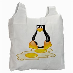 Linux Tux Penguin Birth Recycle Bag (two Sides) by youshidesign