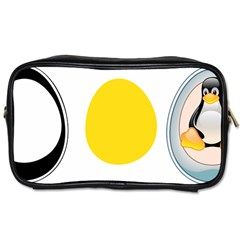 Linux Tux Penguin In The Egg Travel Toiletry Bag (one Side) by youshidesign
