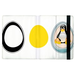 Linux Tux Penguin In The Egg Apple Ipad 2 Flip Case by youshidesign