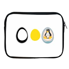 Linux Tux Penguin In The Egg Apple Ipad Zippered Sleeve by youshidesign