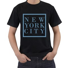 New York City Mens' Two Sided T Shirt (black)