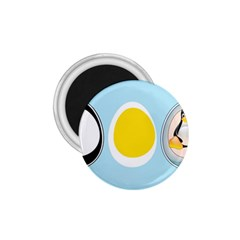 Linux Tux Penguin In The Egg 1 75  Button Magnet by youshidesign