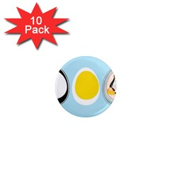 Linux Tux Penguin In The Egg 1  Mini Button Magnet (10 Pack) by youshidesign