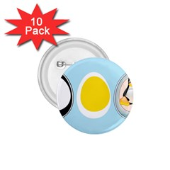 Linux Tux Penguin In The Egg 1 75  Button (10 Pack)