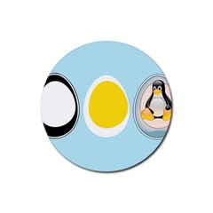 Linux Tux Penguin In The Egg Drink Coasters 4 Pack (round) by youshidesign