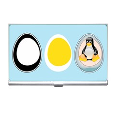 Linux Tux Penguin In The Egg Business Card Holder by youshidesign