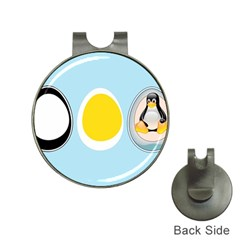 Linux Tux Penguin In The Egg Hat Clip With Golf Ball Marker by youshidesign