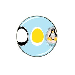 Linux Tux Penguin In The Egg Golf Ball Marker 4 Pack (for Hat Clip) by youshidesign