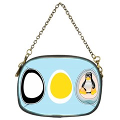 Linux Tux Penguin In The Egg Chain Purse (two Sided)  by youshidesign