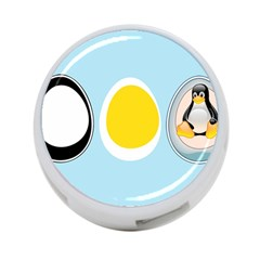 Linux Tux Penguin In The Egg 4 Port Usb Hub (two Sides)