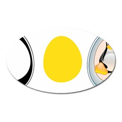 Linux Tux Penguin In The Egg Magnet (oval) by youshidesign