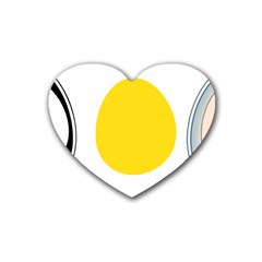 Linux Tux Penguin In The Egg Drink Coasters 4 Pack (heart)