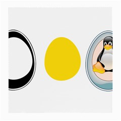 Linux Tux Penguin In The Egg Glasses Cloth (medium, Two Sided)