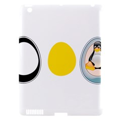 Linux Tux Penguin In The Egg Apple Ipad 3/4 Hardshell Case (compatible With Smart Cover) by youshidesign