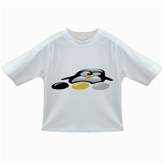 Linux Tux Pengion And Eggs Baby T Shirt by youshidesign