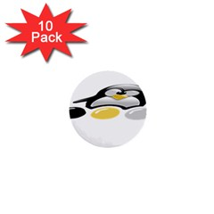 Linux Tux Pengion And Eggs 1  Mini Button (10 Pack) by youshidesign