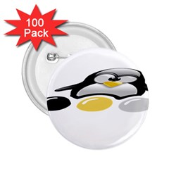 Linux Tux Pengion And Eggs 2 25  Button (100 Pack) by youshidesign