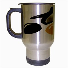 Linux Tux Pengion And Eggs Travel Mug (silver Gray) by youshidesign