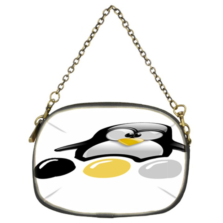 LINUX TUX PENGION AND EGGS Chain Purse (Two Sided)