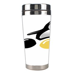 Linux Tux Pengion And Eggs Stainless Steel Travel Tumbler by youshidesign