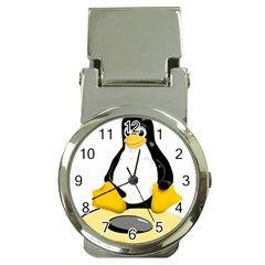 Linux Black Side Up Egg Money Clip With Watch by youshidesign